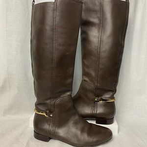 Tory Burch Riding Boots 8.5 Chocolate Brown